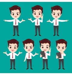 Businessman character actions vector