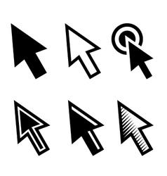 Arrow Cursors Symbol Icons Set vector image