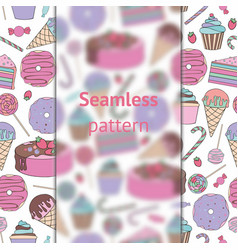 baking and sweets seamless pattern vector image