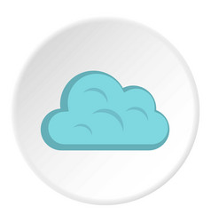 Big cloud icon circle vector