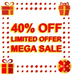 Big winter sale poster with LIMITED OFFER MEGA vector image vector image