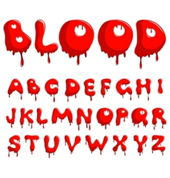 blood alphabet vector image vector image
