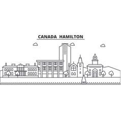 Canada hamilton line skyline linear vector