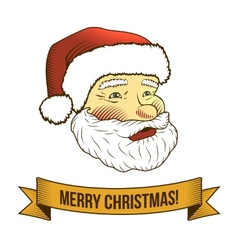 Christmas santa claus icon vector image