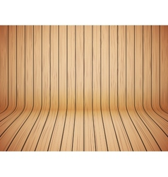 Curved wooden background interior vector image