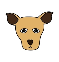 Cute dog mascot icon vector