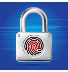 Finger print lock vector