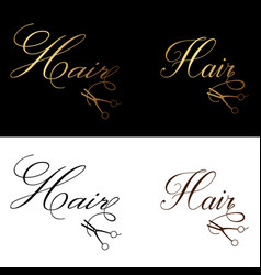 hair logo luxury classic clean style elegant vector image vector image