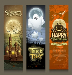 Happy Halloween day collections banner vertical vector image