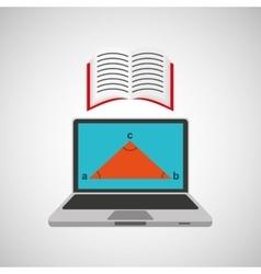 Learn online school geometry book vector