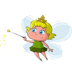 little fairy vector image vector image