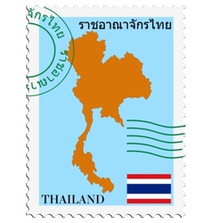Mail to-from thailand vector