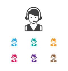 Of business symbol on hotline vector