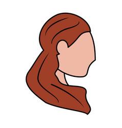 portrait woman bride image vector image