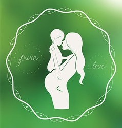 Pure love emblem vector image