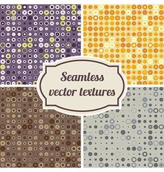 seamless texture of circles and dots vector image vector image