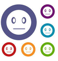 suspicious emoticons set vector image vector image