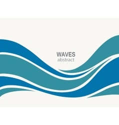 Water Wave Logo abstract design vector image vector image