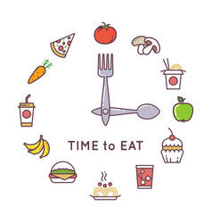 weight loss diet concept with clock and vector image vector image
