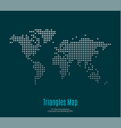 World map with triangles for business vector