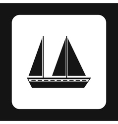 Boat icon simple style vector