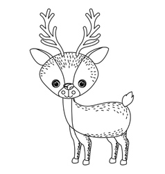Reindeer animal cartoon design vector