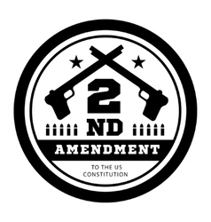 Second Amendment to the US Constitution to permit vector image