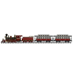 Old american steam train vector