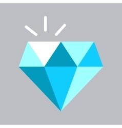 Shining blue diamond icon vector