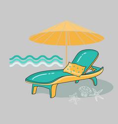 summer cartoon of beach vector image