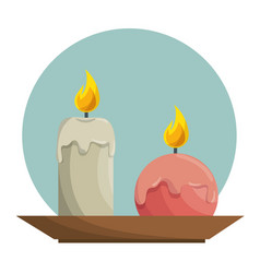 Candle aroma teraphy spa vector