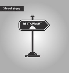 black and white style icon restaurant sign vector image