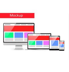 responsive design concept computer laptop vector image