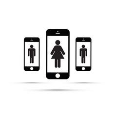 Dating app for men and women vector