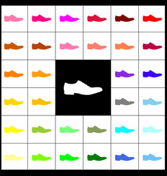 Men shoes sign  felt-pen 33 colorful icons vector