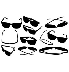 Set of different eyeglasses vector