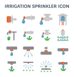 Irrigation sprinkler icon vector