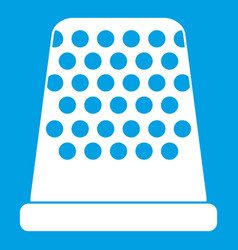 Thimble icon white vector