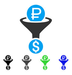 Rouble currency conversion flat icon vector