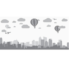 City background for advertising real estate vector