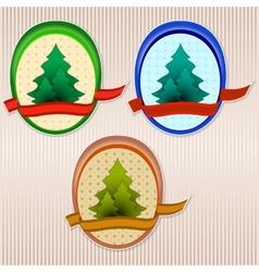 Ecology retro badge vector image