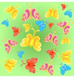 Bright gradient butterflies vector