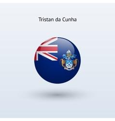 Tristan da Cunha round flag vector image