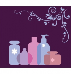 Perfumes and cosmetics vector