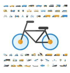 Vehicle and transportation icon set vector
