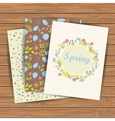 Cards with flowers vector