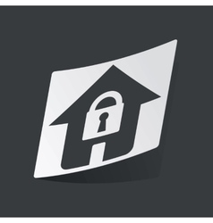 Monochrome locked house sticker vector