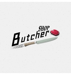 Meat store badges logos and labels for any use vector