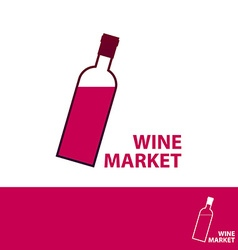 Wine market vector