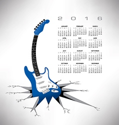 2016 calendar guitar crack vector
